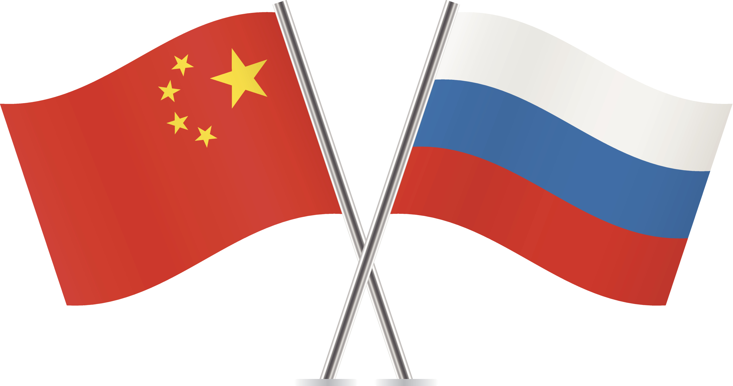 Image result for russia china flags