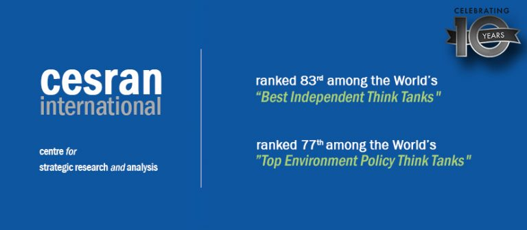 """CESRAN International named the World's #83 """"Best Independent Think Tank"""""""