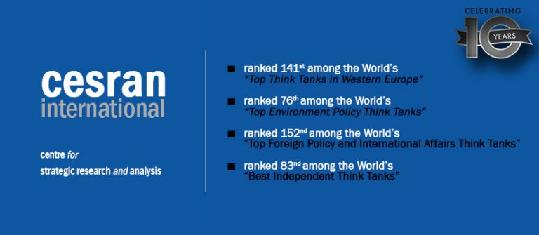 CESRAN International Named again amongst the Top Think Tanks in the World