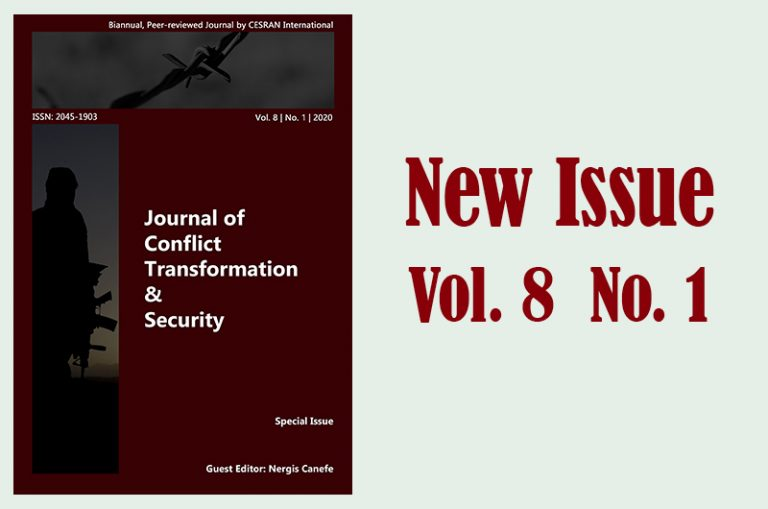 The 13th issue of JCTS (Journal of Conflict Transformation & Security) is out now…