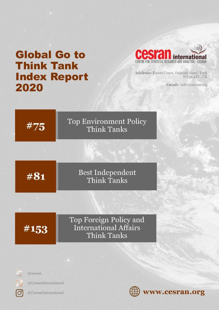 CESRAN Int. Named again amongst the Top Think Tanks in the World